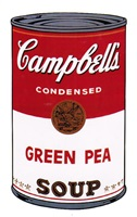 campbell's soup i: green pea [ii.50] by andy warhol